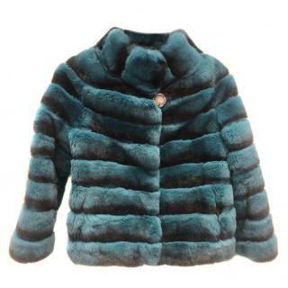 Bespoke Emerald Rabbit Fur Coat