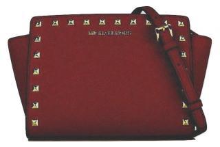 Michael Kors saffiano leather studded crossbody bag