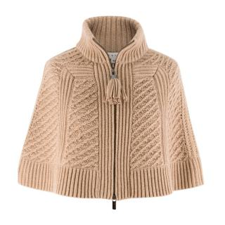 Celine Cable Knit Cashmere Cape