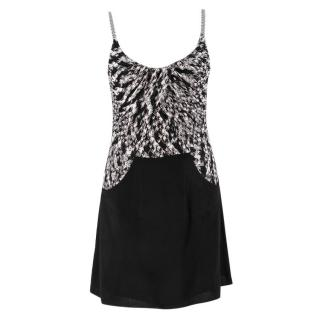 Missoni Black & White Knit Mini Dress