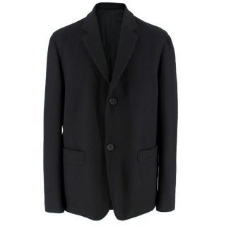 Margaret Howell Black Harris Tweed Blazer Jacket