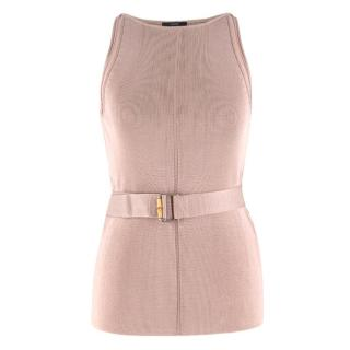 Gucci Dusty Pink Belted Top