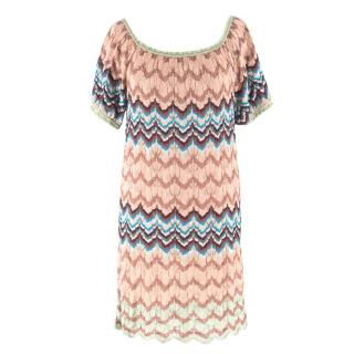 Missoni Silk Knitted Patterned Dress