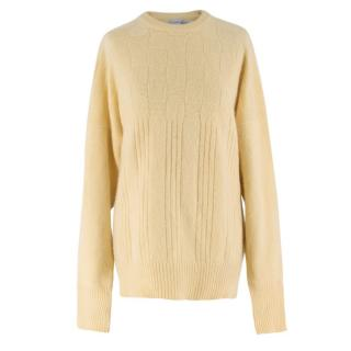 Turnbull and Asser Yellow Cashmere Knit Jumper