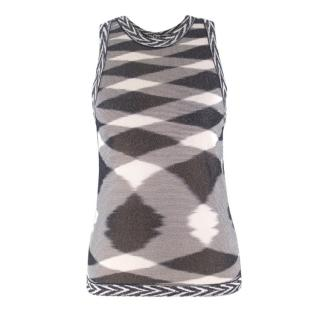 Missoni Black and White Argyle Pattern Top