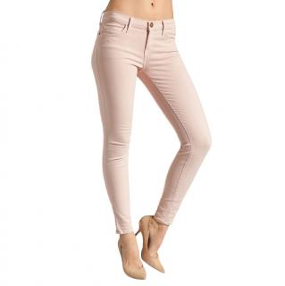 Current Elliott The Ankle Skinny Rose Smoke Jeans