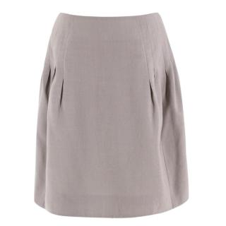 Chloe Khaki Silk A-line Mini Skirt