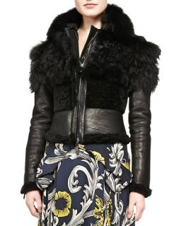 Burberry leather & fur jacket