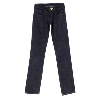 Philipp Plein Blue Straight Jeans