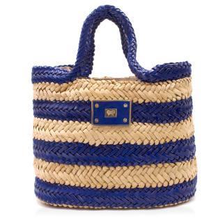 Anya Hindmarch Striped Straw Handbag