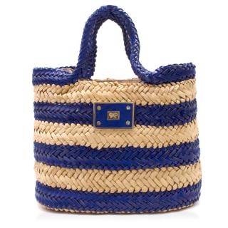 Anya Hindmarch Striped Straw Handbag