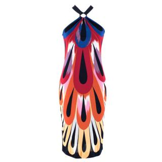 Missoni Multicoloured Ring Halter Neck Dress