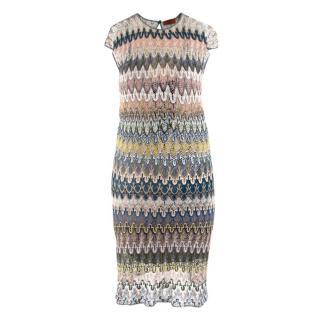 Missoni Multicoloured Knit Striped Dress
