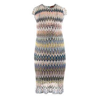 Missoni Multicoloured Knit Striped Dress
