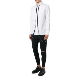 Dsquared White Zip Shirt