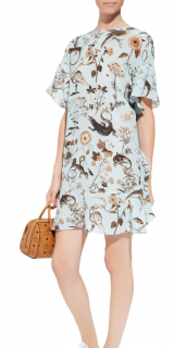 Red Valentino Flora and Fauna Silk Dress