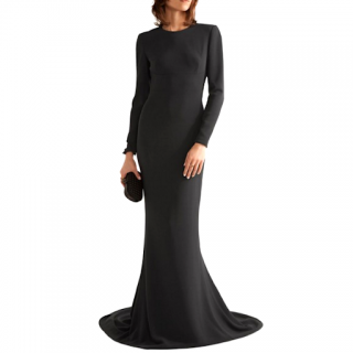 Stella McCartney Backless Navy Gown