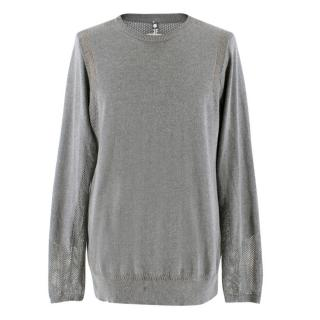 OAMC Grey Perforated Knit Pullover