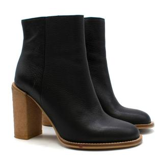 See By Chloe Black Leather Heeled Ankle Boots