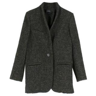 Isabel Marant Green Wool Tweed Coat
