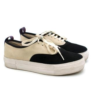 Eytys Two-Tone Suede Mother Sneakers