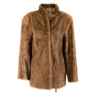 MaxMara Brown Saga Mink Jacket