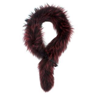 Bespoke Black & Red Fox Fur Scarf