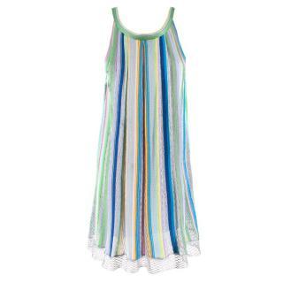 Missoni Striped Fishnet Knit Dress