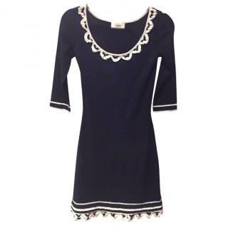 Temperley Black Silk & Merino Wool Dress