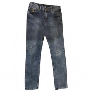 Emporio Armani kid's distressed jeans