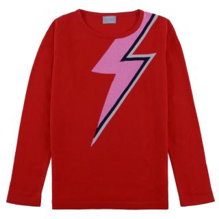 Orwell & Austen Red Bowie Bolt Jumper