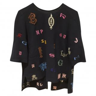 Stella McCartney Multicolour Crest Embellished Top