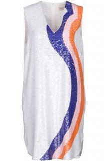 Emilio Pucci sequinned white mini dress