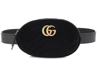 Gucci velvet belt bag GG Marmont