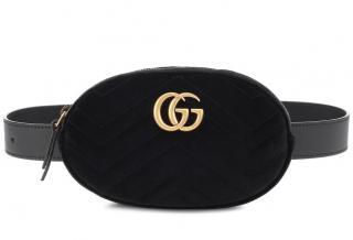 Gucci velvet belt bag GG Marmont