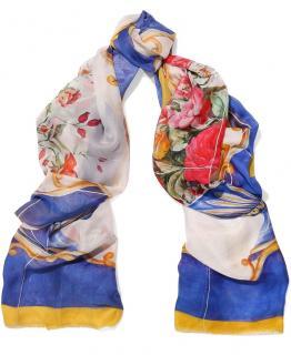 Dolce & gabbana Sicily Maiolica print cotton scarf