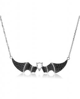 Bao Bao Wan Diamond & Sapphire Bat Necklace 18ct Gold