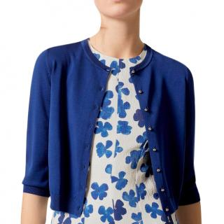 Carolina Herrera knit cardigan with metallic buttons