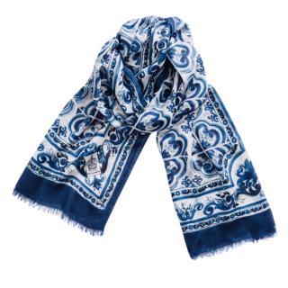 Dolce & Gabbana Sicily Maiolica print scarf