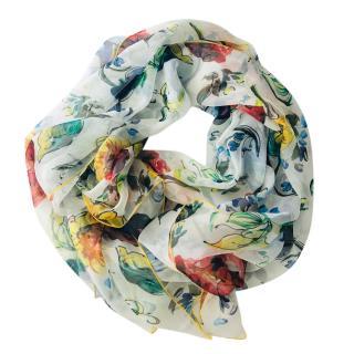 Dolce & Gabbana Sicily Maiolica print silk scarf