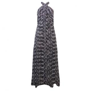 Missoni Monochrome Knit Halterneck Maxi Dress