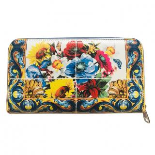 Dolce & Gabbana leather sicily print wallet