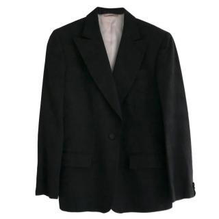 Gucci Tom Ford Black Moire Satin Pink Lined Jacket