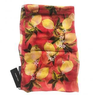 Dolce & Gabbana silk lemon print scarf