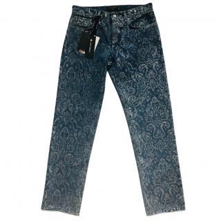 Dolce & Gabbana golden shimmer denim jeans