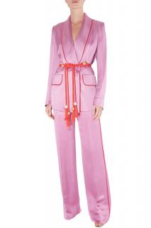 Peter Pilotto pink satin suit