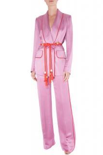 Peter Pilotto pink satin suit