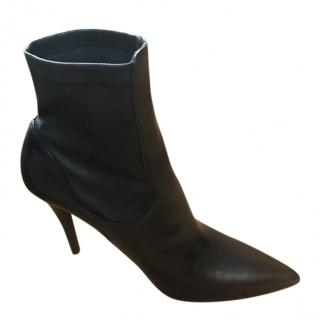 Massimo Dutti Ankle Black Leather boots