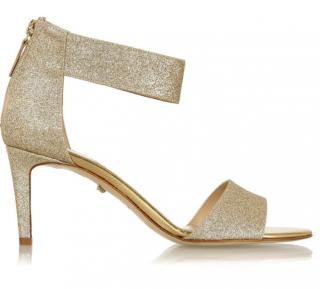 Diane von Furstenberg Kinder Gold Glitter Sandals