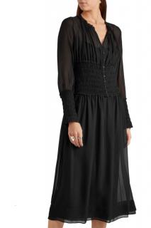 JOSEPH Cora silk midi dress